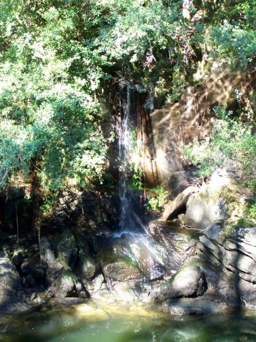 Salto de auga no río Lérez.