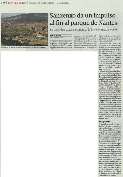 13 de outubro de 2013, La Voz.