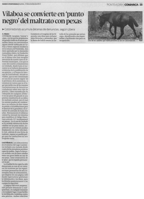 Diario, 15 de outubro de 2013.