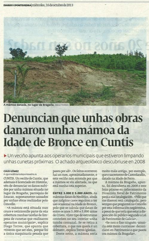 Diario, 16 de outubro de 2013.