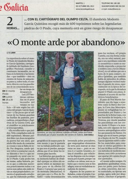 La Voz, 1 de outubro de 2013.