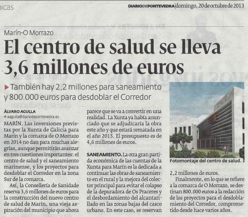 Diario, 20 de outubro de 2013.