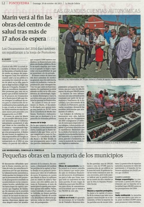 La Voz, 20 de ourubro de2013.
