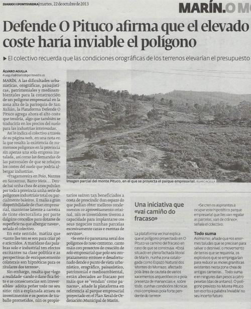 Diario, 23 de outubro de 2013.