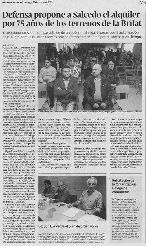 Diario, 27 de outubro de 2013.