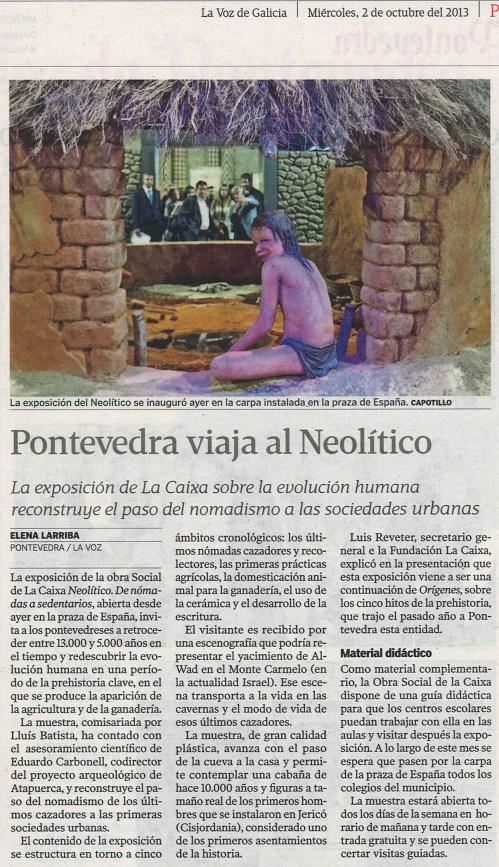 La Voz, 2 de outubro de 2013.