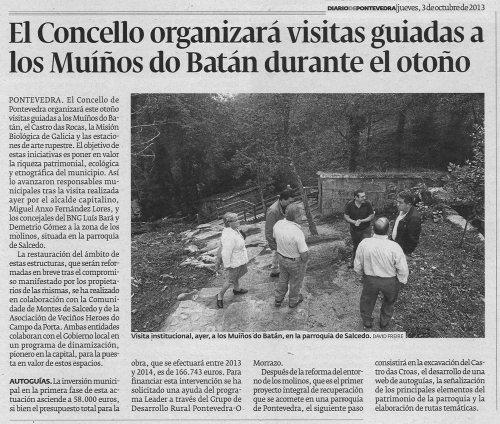 Diario de Pontevedra, 3 de outubro de 2013.