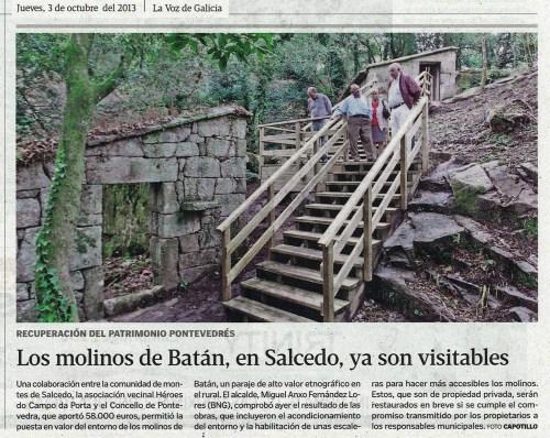 La Voz, 3 de outubro de 2013.