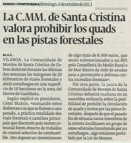 Diario, 6 de outubro de 2013.