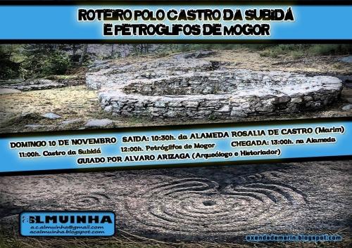 Roteiro de Almuinha polo castro da Subidá e os petroglifos de Mogor.