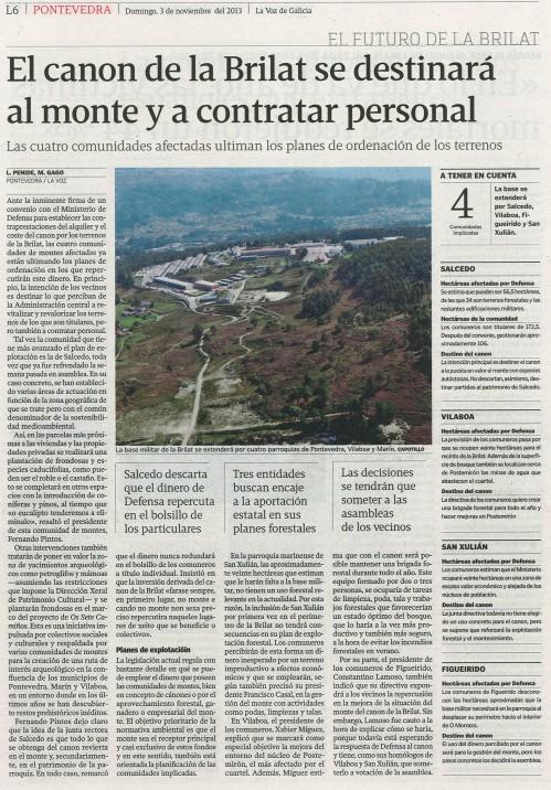 La Voz, 3 de novembro de 2013.