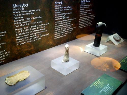 Exposición sobre o Neolítico.