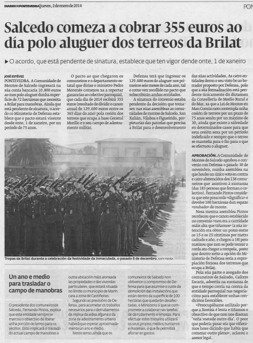Diario, 2 de xaneiro de 2014.