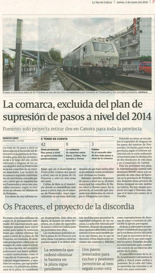 La Voz, 2 de xaneiro de 2014.