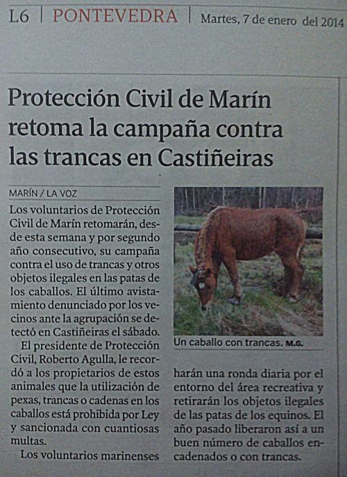 La Voz, 7 de xaneiro de 2014.