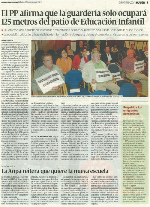Diario, 12 de outubro de 2013.