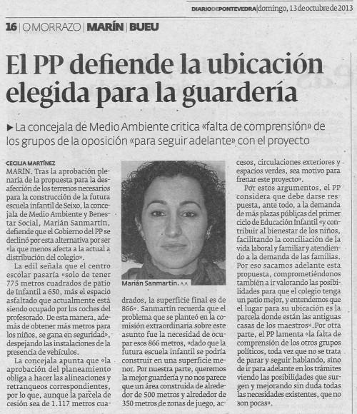 Diario, 13 de outubro de 2013.