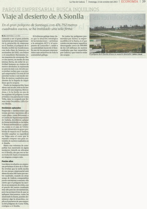 La Voz, 13 de outubro de 2013.