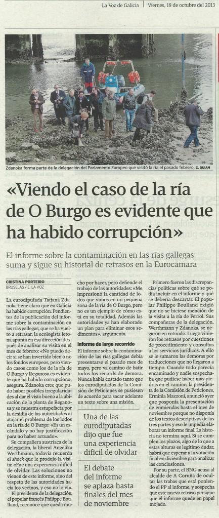 La Voz, 18 de outubro de 2013.