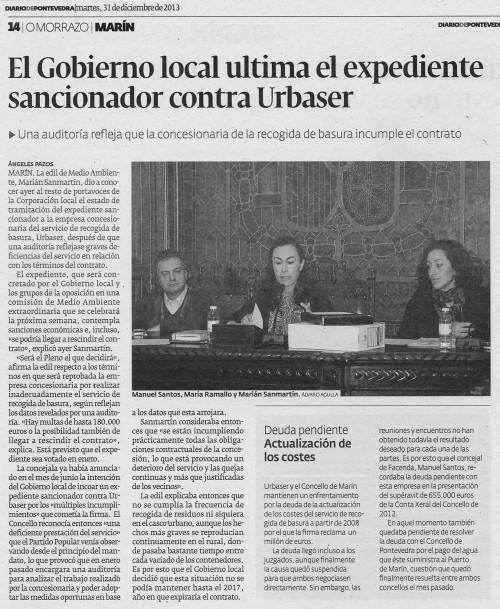 Diario, 31 de xaneiro de 2013.