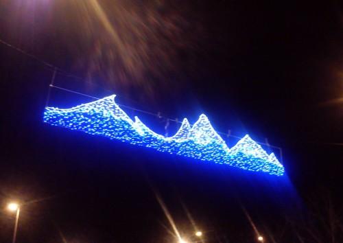 Iluminación navideña na Avenida de Ourense.
