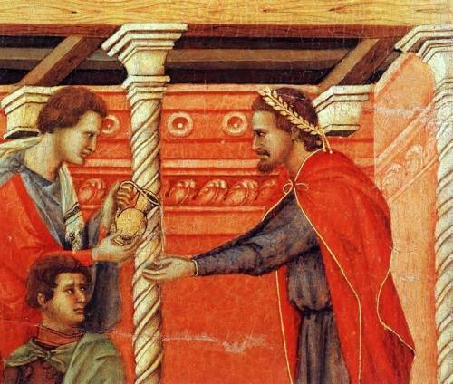 Pilatos: pintura de Duccio di Buoninsegna.