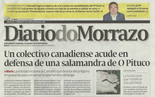 Diario, 1 de febreiro de 2014.