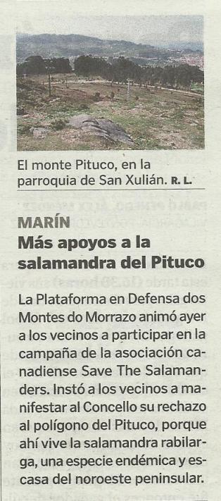 La Voz, 2 de febreiro de 2014.