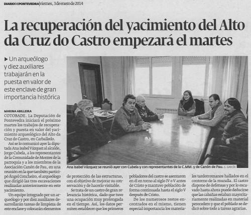 Diario, 3 de xaneiro de 2014.