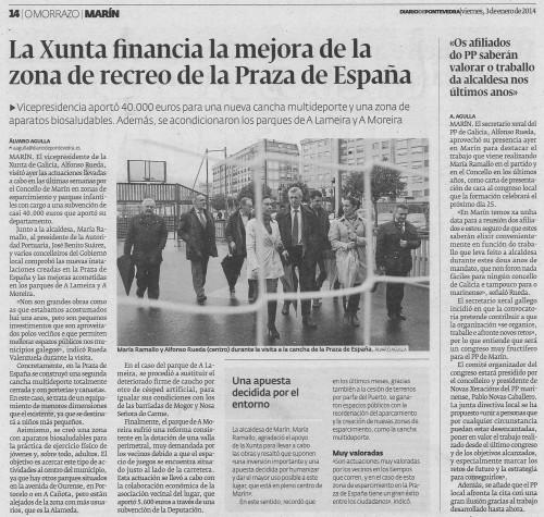 Diario de Pontevedra, 3 de xaneiro de 2014.