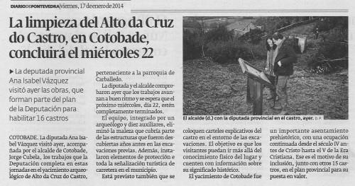Diario, 17 de xaneiro de 2014.