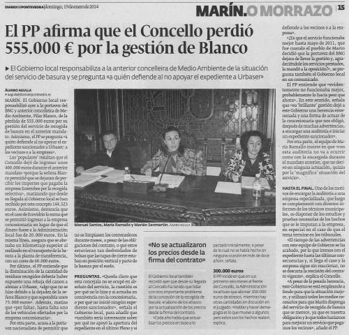 Diario, 19 de xaneiro de 2014.