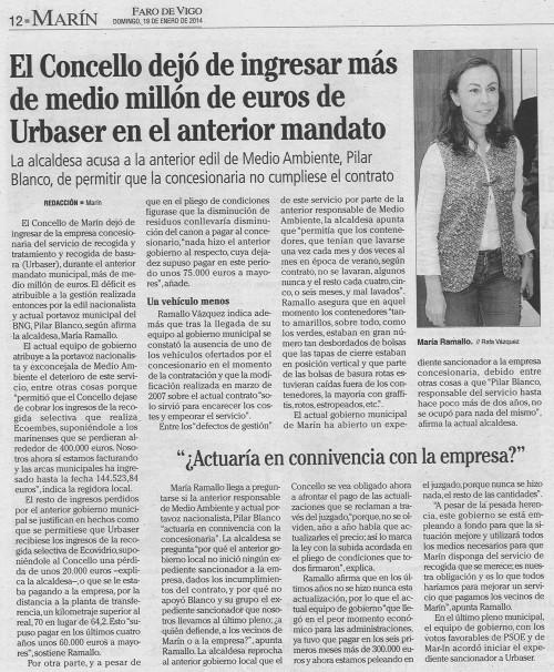 Faro, 19 de xaneiro de 2014.