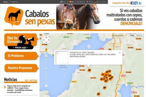 Mapa de senpexas.info na zona do Pituco.