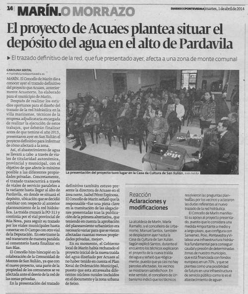 Diario, 1 de abril de 2014.