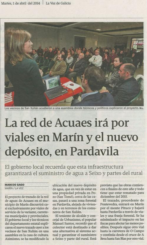 La Voz, 1 de abril de 2014.