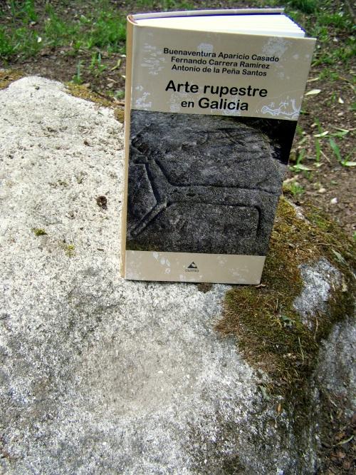 """""""Arte rupestre en Galicia"""": Buenaventura Aparicio, Fernando Carrera, Antonio de la Peña. Edicións do Cumio, 2013."""
