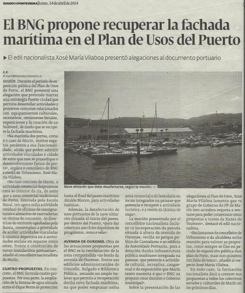 Diario, 14 de abril de 2014.