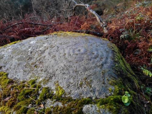 Conxunto rupestre de Champás, en San Xulián (Foto, Paulo Troitiño]
