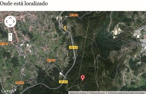 Localización dos petroglifos da Carrasca.