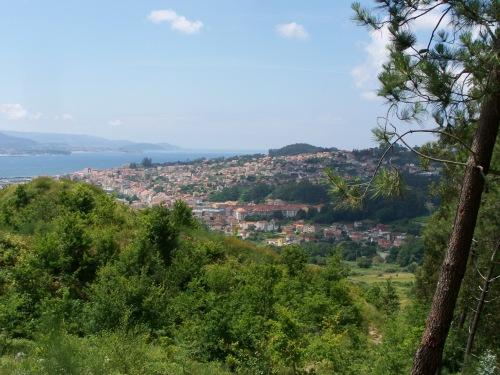 Vista dende o Monte de A Torre, Meira, Moaña.