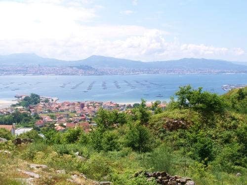 Vista da ría de Vigo dende os Montes de Meira, Moaña.