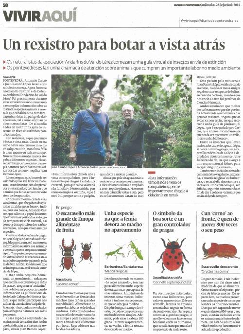 Diario, 25 de xuño de 2014.