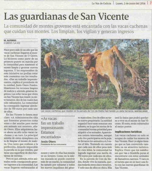 La Voz, 2 de xuño de 2014.