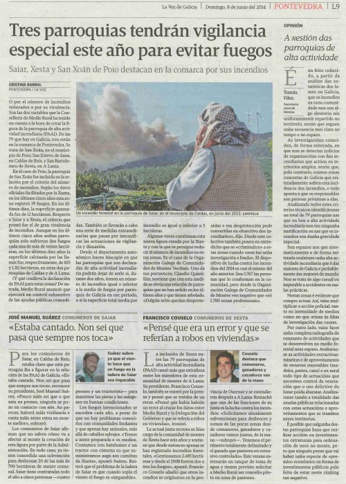 La Voz, 8 de xuño de 2014.