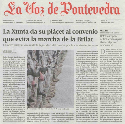 La Voz, 9 de xuño de 2014