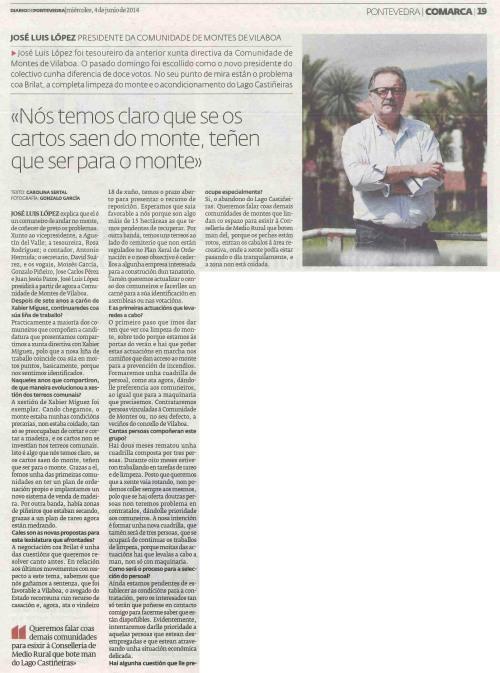 Diario, 4 de xuño de 2014.