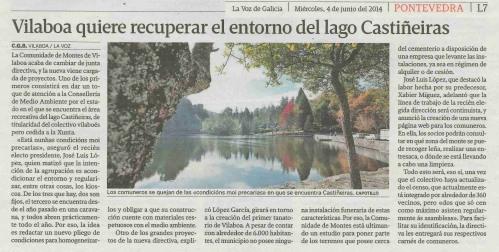 La Voz, 4 de xuño de 2014.