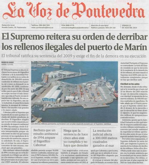 La Voz, 12 de xullo de 2014.