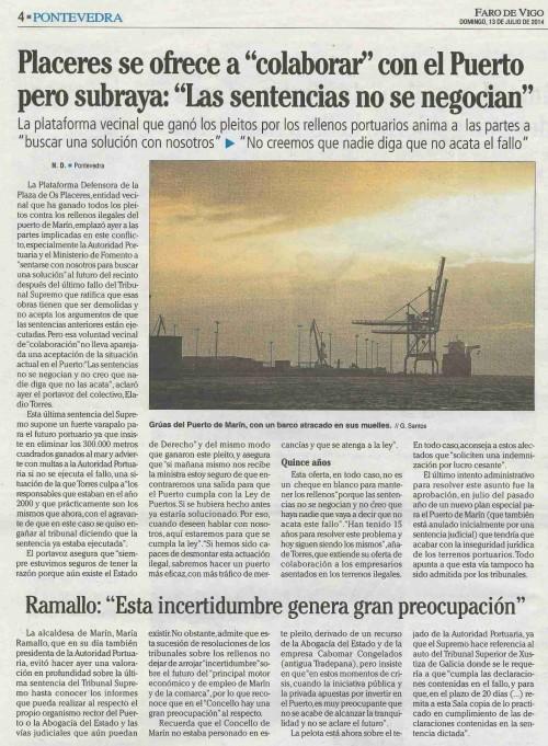 Faro, 13 de xullo de 2014.